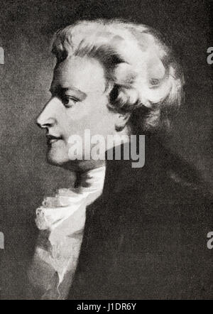 Wolfgang Amadeus Mozart, 1756 – 1791.  Prolific and influential composer of the Classical era.  From Hutchinson's - Stock Photo