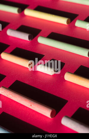 Abstract background. Chalks. - Stock Photo