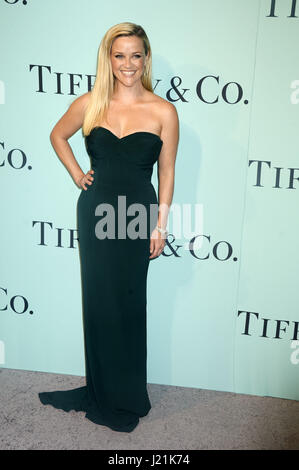 Reese Witherspoon attends Tiffany & Co Celebrates The 2017 Blue Book Collection at St. Ann's Warehouse on April - Stock Photo