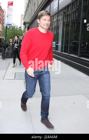 New York, NY, USA. 24th Apr, 2017. Nikolaj Coster-Waldau seen in New York City on April 24, 2017. Credit: Rw/Media - Stock Photo