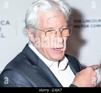 New York, USA. 24th Apr, 2017. Actor Richard Gere attends North American Premiere of THE DINNER during the 2017 - Stock Photo