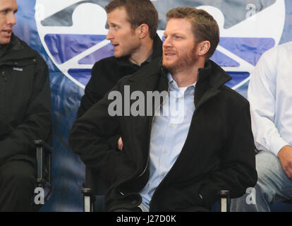 Las Vegas, NV, USA. 4th Dec, 2017. Dale Earnhardt Jr. at the NASCAR Champion's Week Freemont Street Experience fanfest - Stock Photo