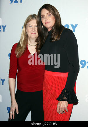 New York, NY, USA. 25th Apr, 2017. Jennifer Finney Boylan and Caitiyn Jenner at 92Y in New York City on April 25, - Stock Photo