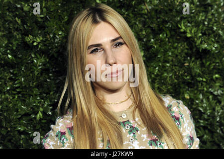 New York City. 24th Apr, 2017. Zosia Mamet attends the Chanel Artists Dinner during the Tribeca Film Festival 2017 - Stock Photo