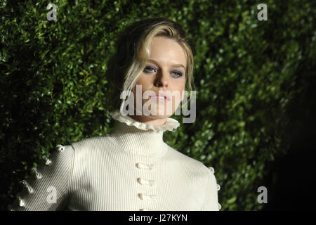 New York City. 24th Apr, 2017. Alice Eve attends the Chanel Artists Dinner during the Tribeca Film Festival 2017 - Stock Photo