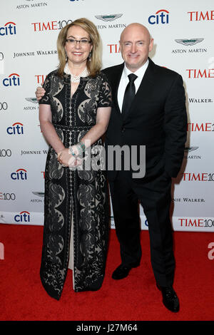 New York, USA. 25th Apr, 2017. Gabrielle Giffords (L) and Mark Kelly attend the Time 100 Gala at Frederick P. Rose - Stock Photo