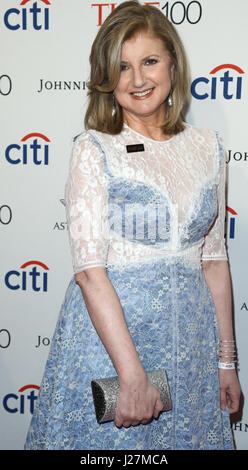 New York, USA. 25th April, 2017. Arianna Huffington attends the Time 100 Gala at Frederick P. Rose Hall on April - Stock Photo