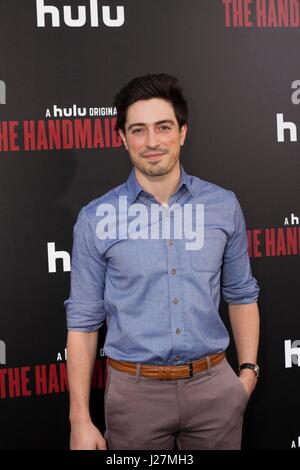 Los Angeles, USA. 25th Apr, 2017. Ben Feldman arrives at Hulu's # #The Handmaid's Tale# # Premiere at the ArcLight - Stock Photo