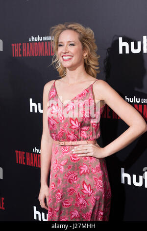 Los Angeles, USA. 25th Apr, 2017. Anna Camp arrives at Hulu's # #The Handmaid's Tale# # Premiere at the ArcLight - Stock Photo