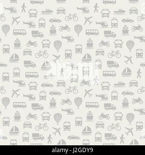 Transport seamless pattern. Background with icons. - Stock Photo