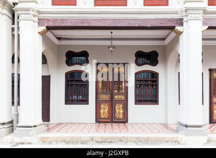 GEORGE TOWN, MALAYSIA - MARCH 22: Facade of the old historial shophouse on March 22, 2016 in George Town, Malaysia. - Stock Photo