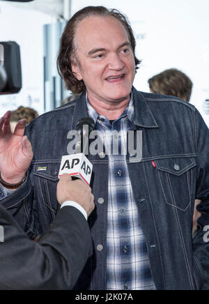 New York, USA. 28th Apr, 2017. Quentin Tarantino attends 25th Anniversary Retrospective Screening of Reservoir Dogs - Stock Photo