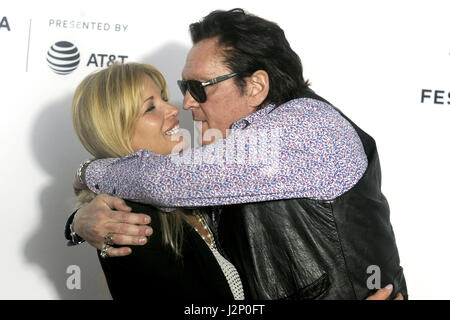 New York City. 28th Apr, 2017. DeAnna Madsen and her husband Michael Madsen attend the 'Reservoir Dogs' 25th Anniversary - Stock Photo