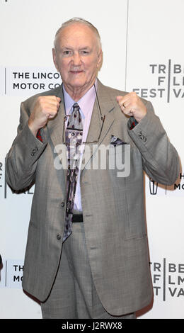 New York, USA. 28th April 2017: Former boxer Chuck Wepner attends the 'Chuck' screening at BMCC at PAC during the - Stock Photo