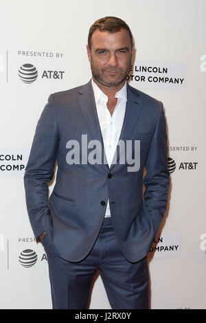 New York, USA. 28th April 2017: Actor Liev Schreiber attends the 'Chuck' screening at BMCC during the 2017 TriBeCa - Stock Photo