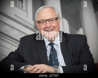 Happy smiling portrait  Roger Pannone started Pannone law firm in Manchester later taken over by US law giants Slater - Stock Photo