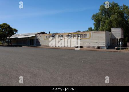Old abandoned picture theatre, Norseman  Western Australia - Stock Photo