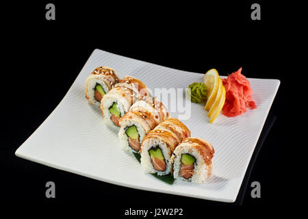 how to make baked salmon roll