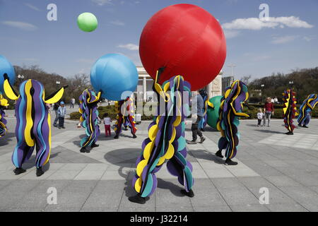 Moscow, Russia. 1st May, 2017. People in costumes in Moscow's Gorky Park. Credit: Artyom Geodakyan/TASS/Alamy Live - Stock Photo