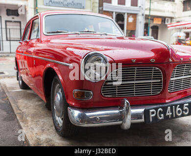 GEORGE TOWN, MALAYSIA - MARCH 22: Volvo Amazon parked on the street of George Town on March 22, 2016 in George Town, - Stock Photo