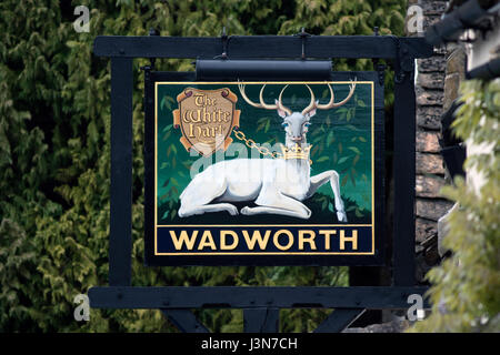 Hand Painted Pub Sign Hart