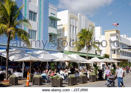 casablanca hotel on ocean drive miami beach stock photo. Black Bedroom Furniture Sets. Home Design Ideas
