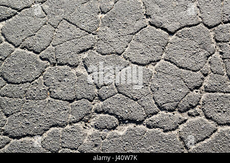Texture of old cracked asphalt in the daytime. Background - Stock Photo