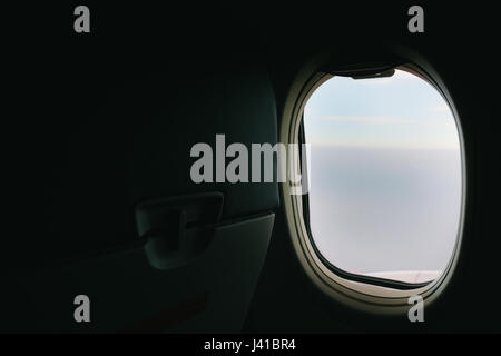 Window view from the airplane. - Stock Photo