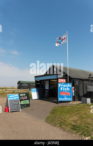 Wet fish shop on beach at beer devon west country uk for The fresh fish company
