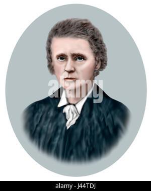 Marie Curie, 1867-1934, Polish born French Physicist, Chemist - Stock Photo