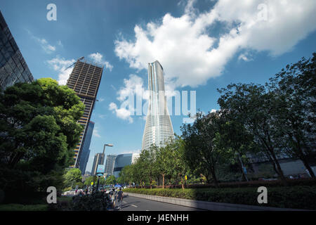Raffles City is one of Hangzhou's newest and tallest skyscrapers, Hangzhou, China, Asia - Stock Photo