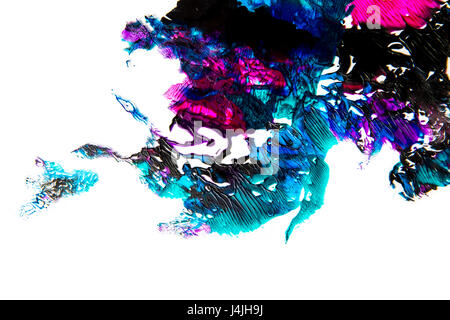 Abstract paint smudges isolated on white background - Stock Photo