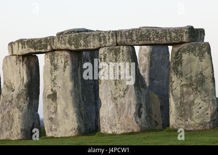 Great Britain, England, Wiltshire, Stonehenge, - Stock Photo
