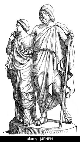 The downfall of the hero in the greek story of oedipus