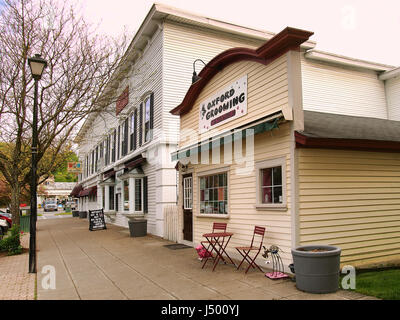 Oxford, New York, USA. May 12, 2017. Downtown Oxford, New York in early morning, springtime - Stock Photo