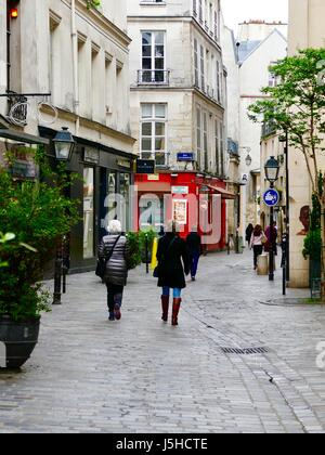 paris france shopping in the marais area stores french bakery stock photo royalty free. Black Bedroom Furniture Sets. Home Design Ideas