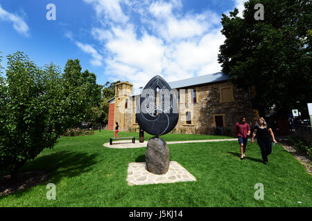 Angel of Hahndorf Sculpture, Hahndorf Academy, Hahndorf, South Australia - Stock Photo