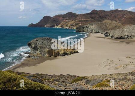 San Jose and Monsul beach, Cabo de Gata-Nijar Biosphere Reserve Stock Photo, ...