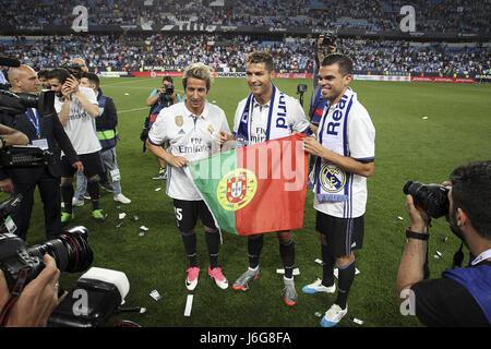 malaga spain 21st may 2017 real madrid players cristiano ronaldo c j6g8fa