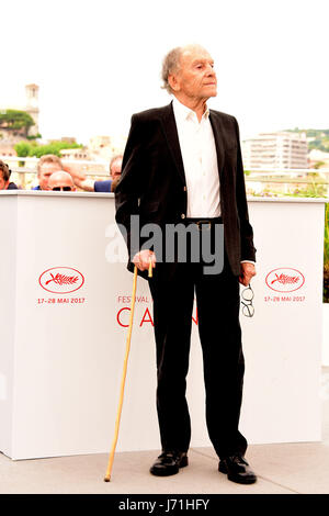 Cannes, France. 22nd May, 2017. Jean-Louls Trantignant attending a Photocall for HAPPY END at Cannes film Festival - Stock Photo