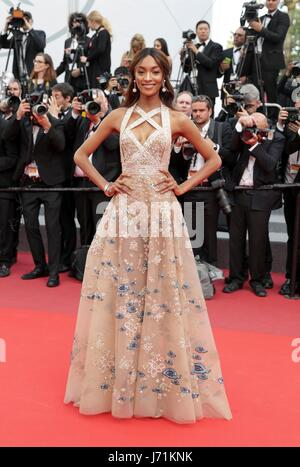 Cannes, France. 22nd May, 2017. Jourdan Dunn Model The Killing Of A Sacred Deer. Premiere. 70 Th Cannes Film Festival - Stock Photo