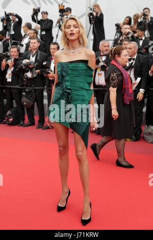 Cannes, France. 22nd May, 2017. Anja Rubik Model The Killing Of A Sacred Deer. Premiere. 70 Th Cannes Film Festival - Stock Photo