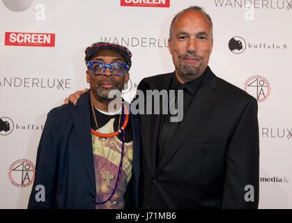 Cannes, France. 22nd May, 2017. Cannes, France - May 22, 2017: Cannes Film Festival Wanderluxe Gala with Spike Lee - Stock Photo