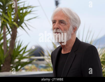 Cannes, France. 22nd May, 2017. Director Michael Haneke at the Happy End film photo call at the 70th Cannes Film - Stock Photo