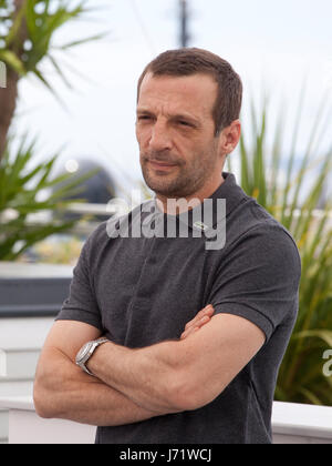 Cannes, France. 22nd May, 2017. Actor Mathieu Kassovitz at the Happy End film photo call at the 70th Cannes Film - Stock Photo