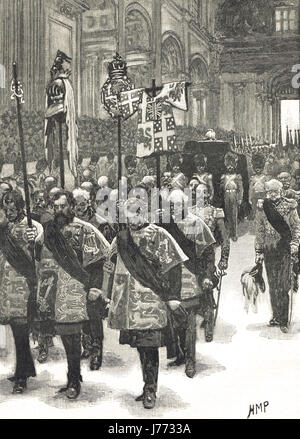 Funeral of the Duke of Wellington 1852 - Stock Photo