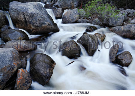 Stream on Guanella Pass in the Colorado Rocky Mountains - Stock Photo