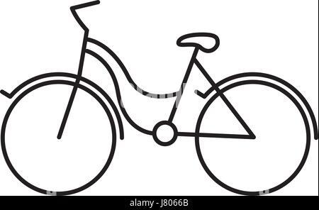 black silhouette with tourist bike icon - Stock Photo