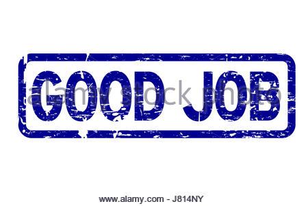 job blue square stamp Stockfoto, Lizenzfreies Bild ...