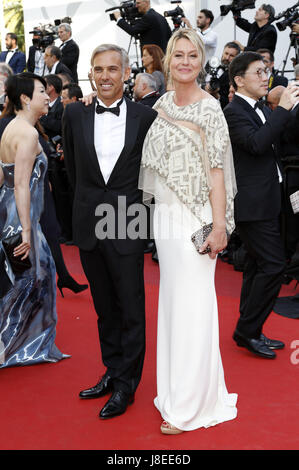 Cannes, Frankreich. 28th May, 2017. Paul Belmondo and Luana Tenca attending the closing-night of the 70th Cannes - Stock Photo